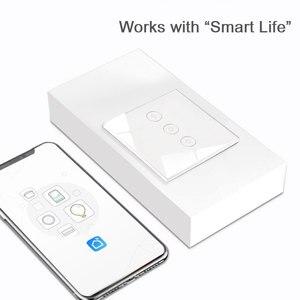 Image 5 - EU/英国スマートライトタッチスイッチ 1/2/3 ギャング壁スイッチタッチ/WiFi/音声 /アプリスマートホームコントローラ Alexa で動作/Google ホーム
