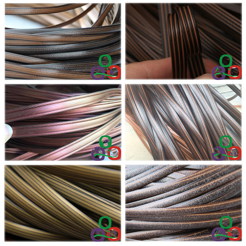 65meters 500G Coffee Gradient Flat Synthetic Rattan Weaving Raw Material Plastic Rattan For Knit And Repair Chair Table