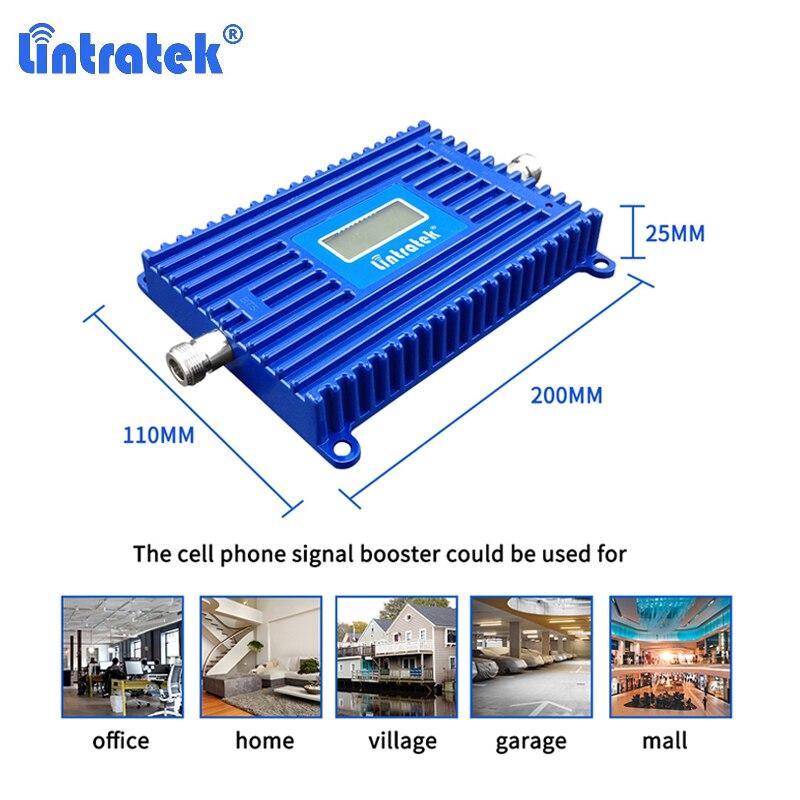 Усилитель сигнала сотовой связи Band 28 Lintratek, 4G, 700 МГц, LTE, ALC/усилитель с АРУ, ЖК-дисплей, повторитель сигнала для сотового телефона дБ, Интернет