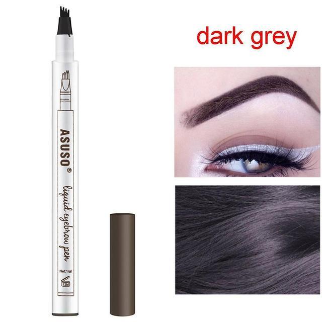 HOT Sale 1Pcs Women Makeup Sketch Liquid Eyebrow Pencil Waterproof Brown Eye Brow Tattoo Dye Tint Pen Liner Long Lasting Eyebrow 3