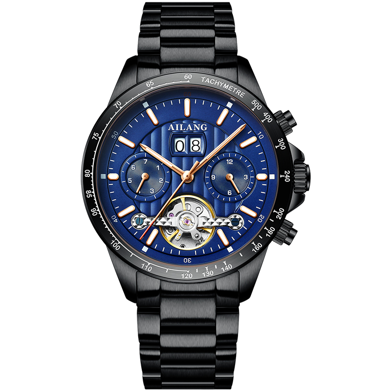 AILANG Men Automatic Watch Sapphire Luxury Mechanical Wristwatch Stainless Steel Waterproof Watch Men Relogio Masculino