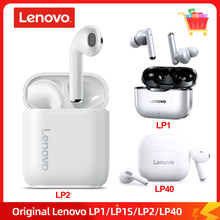Lenovo LP1/LP2/LP40 TWS Earphone Bluetooth 5.0 Wireless Headset Waterproof Sport Earbud Noise Cancelling Headphones Dual Stereo