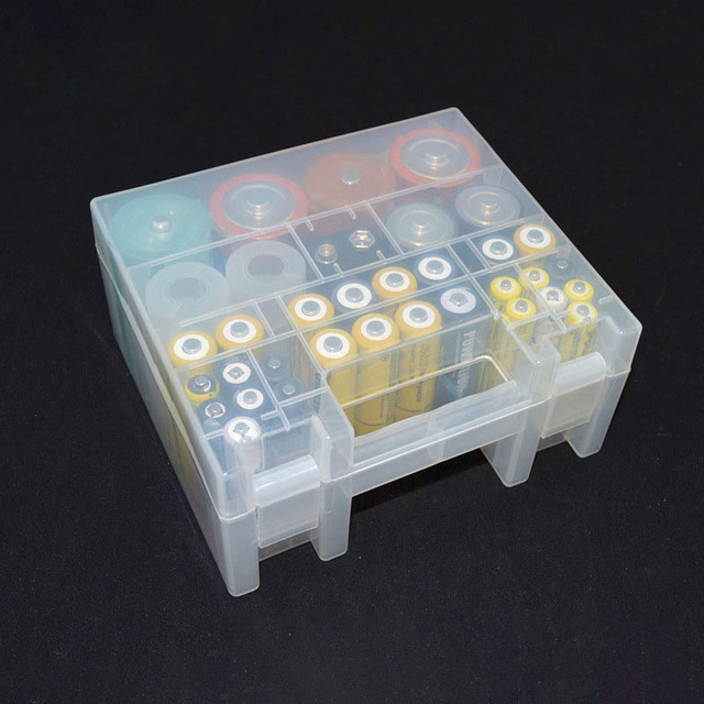 Transparent Plastic Battery Holder Box Container for AA and AAA Battery Storage Boxes Case Cover for Battery Organizer Holder