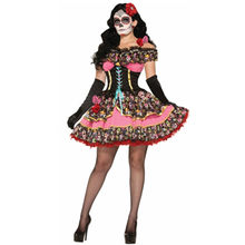 2019 Sexy Messicano Giorno Dei Morti Fancy Dress Senorita Bone-ita Scheletro Horror Fantasma Helloween Sposa Vampire Skull costume(China)