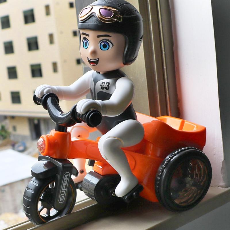 Stunt Men And Women Bao Yi Intellectual Toy Rotating Children Ride Tricycle Electric Music Cartoon
