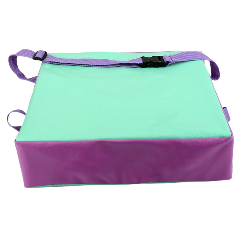 Children Artificial Leather Laptop Lunch Children 's Throwing Chair Cushions Chair Green + Purple