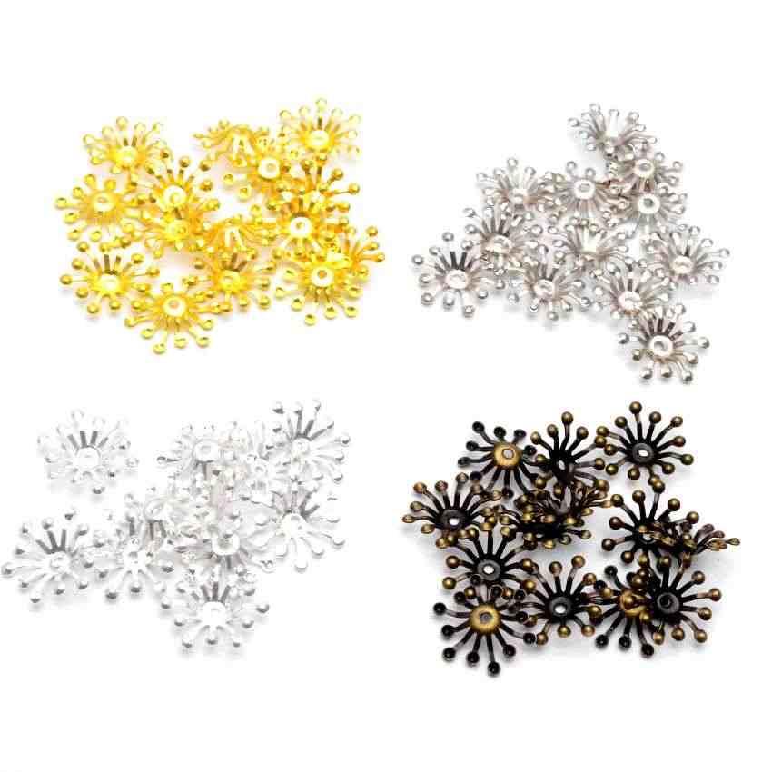 Darmowa wysyłka 100 sztuk filigran kwiat okłady złącza upiększeń prezent dekoracji DIY ustalenia 15x13mm