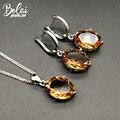 Bolai cor mudança sultanit conjuntos de jóias 925 prata esterlina ov 14*10mm criado diaspore brincos pingente pedra preciosa para feminino