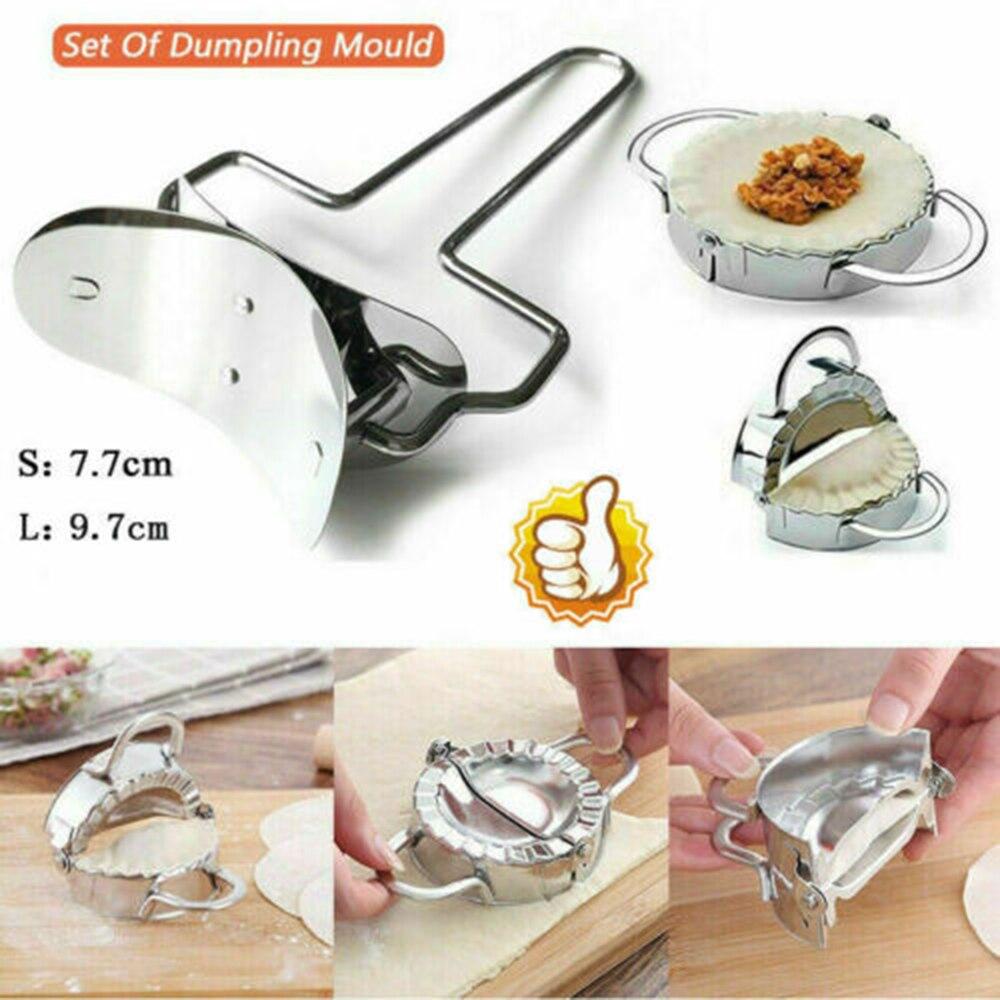 Stainless Dumpling Skin Maker Mold Kitchen Dumpling Wrappers Cutter Mold 7cm