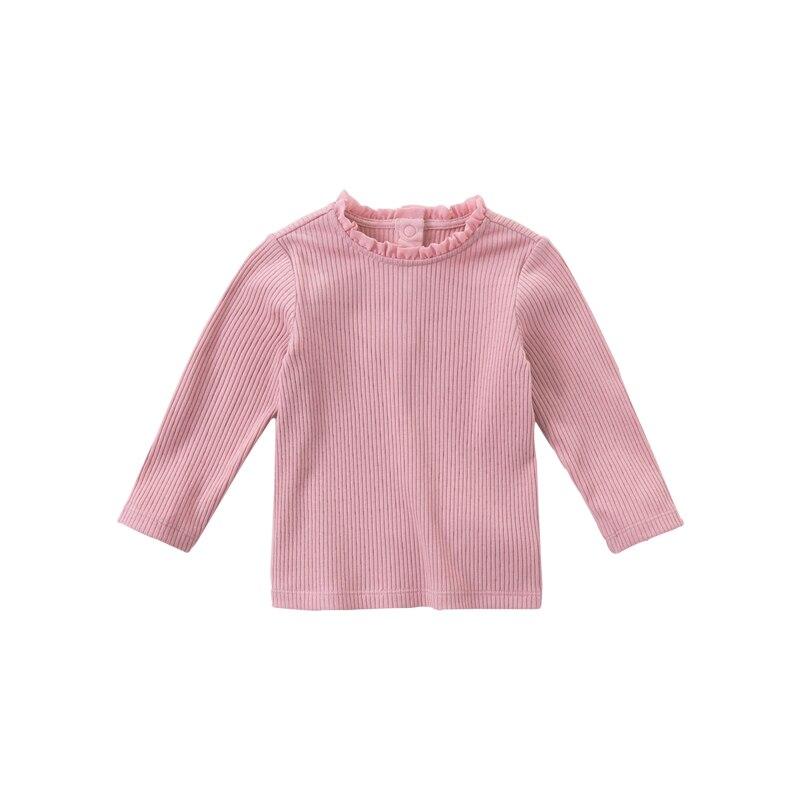 DB15908 dave bella autumn baby girls cute solid T-shirt children tops girl kids fashion tees 8