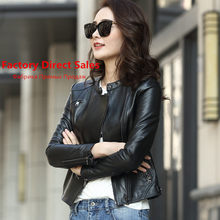 Sheepskin Real 100% Coat Female Genuine Leather Jacket 2020 Streetwear Bomber Jackets Korean Outwear Casaco Feminino MY s(China)