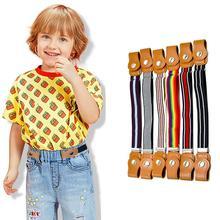 15 סגנונות ילד אבזם משלוח אלסטי חגורה לא אבזם למתוח חגורה לילדים פעוטות מתכוונן בני ובנות חגורות