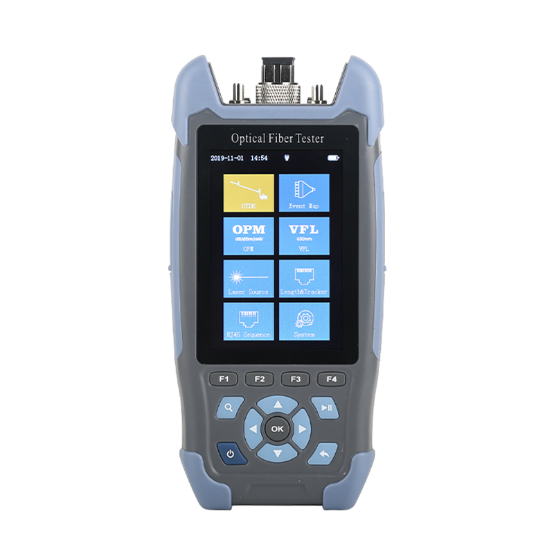 Mini OTDR Fiber Optic Reflectometer With 9 Functions VFL OLS OPM Event Map 24dB For 64km Cable Fiber Cable Tester Otdr