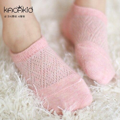 Kacakid Summer New Children's Socks Infants Mesh Hollow Out Cotton Socks No-show Socks Men And Women Baby Anti-slip Socks