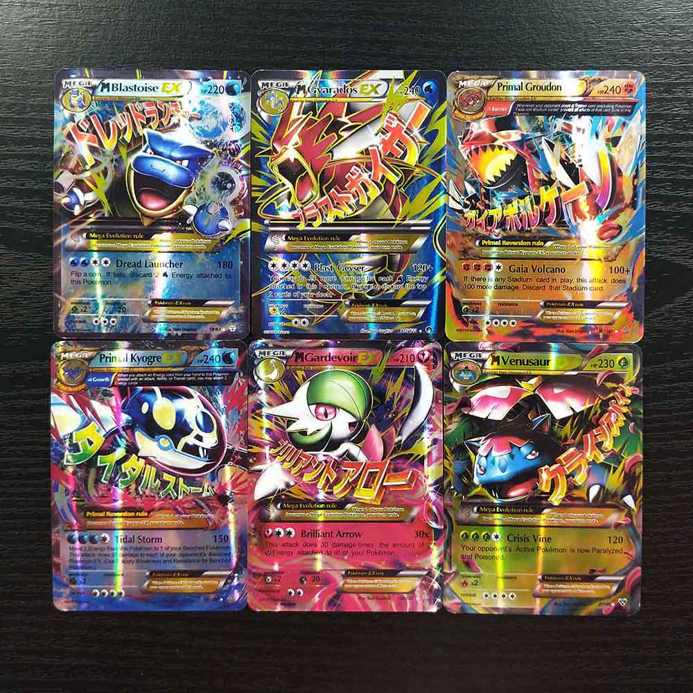 TAKARA TOMY Pokemon Cards 30 Mega Deck Board Game Collections Battle Shining Card Children Toys Flash Card Table Game