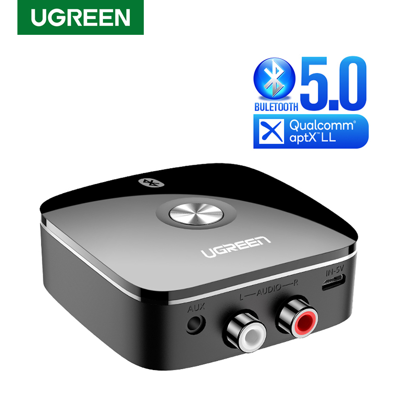 UGREEN Bluetooth Receiver 5 0 Wireless Auido Music 3 5 mm RCA APTX LL Low Latency Home Music Streaming Sound 3 5mm 2RCA Adapter