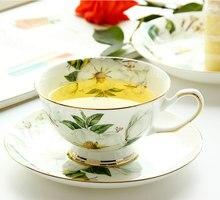 220 ml, fino osso china xícara de chá conjunto com pires, camélia design tasse um café xícara de cerâmica, copos de café espresso, copo e pires