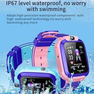 Image 4 - AISHI Q12 เด็กสมาร์ทนาฬิกาSOS Smartwatchสำหรับเด็กSIM Cardกันน้ำIP67 สำหรับIOS Android VS s12 Q12B