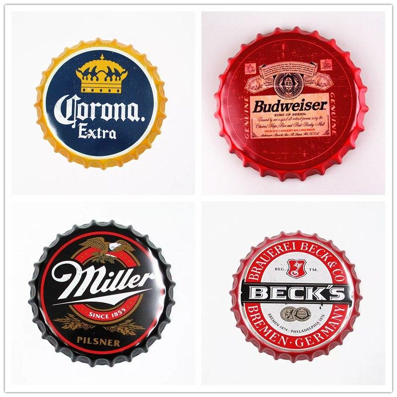 [Luckyaboy] винтажный металлический жестяной знак, крышки для пивных бутылок, металлическая жестяная Ретро Настенная картина, винтажный Декор д...