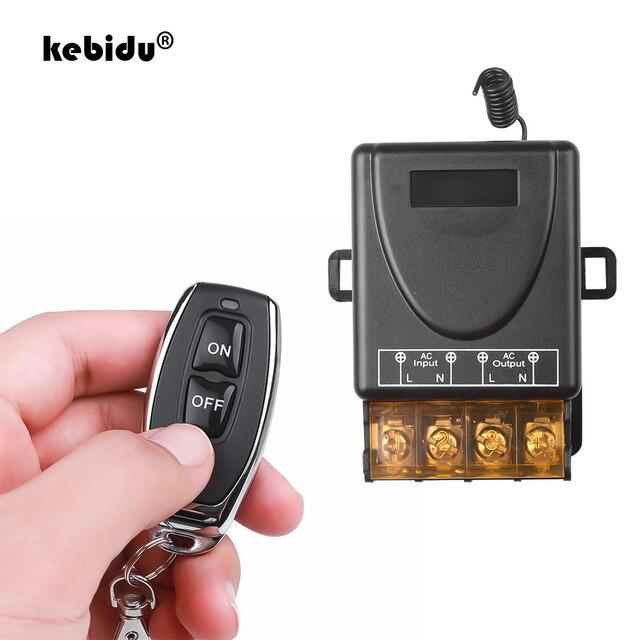 Kebidu AC 110V 240V 30A röle kablosuz RF akıllı uzaktan kumanda anahtarı verici + alıcı 433MHz akıllı ev uzaktan