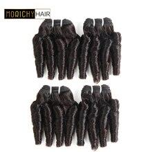Morichy 50 г/шт. funmi волнистые волосы 4 пучка предложения бразильские Надувные вьющиеся человеческие волосы пучок s Спиральные бигуди remy волосы