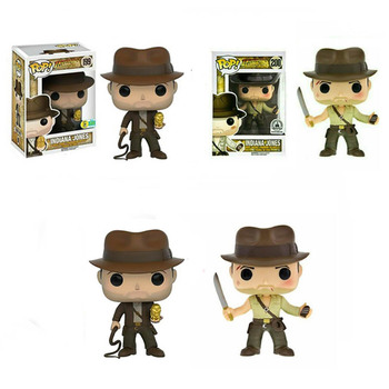 FUNKO POP Indiana Jones Action Figure Toys Raiders of the Lost Ark Movie Characters Vinyl Dolls Decoration Models for Kids Gifts 1