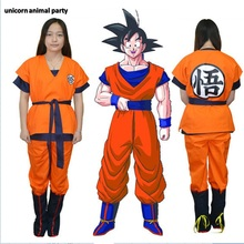 Kigurumi Two Style Kids Adult Dragon Ball Z Son Goku Cosplay Costume Full set For Halloween Party halloween costumes pajamas