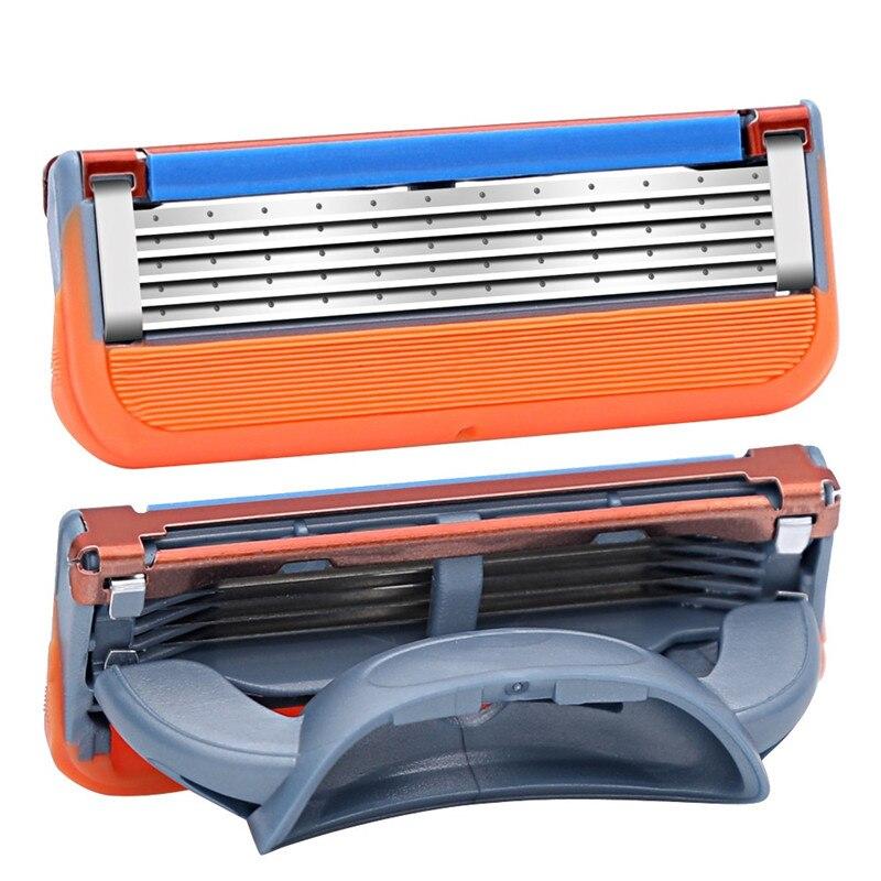 4pcs/Pack Shaving Razor Blades for Men Face Care Safety Razor Blade Mens Shaving Shaver Razor Replacement Heads 4