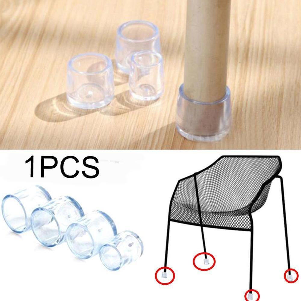 4 Pcs PE Plastic Round Chair Leg Caps Covers Rubber Feet Protector Pad Furniture Table Covers 16mm/19mm/22mm/25mm/30mm