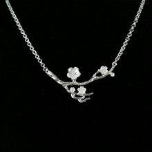 Flower Dendy 999 Sterling Silver Pendant Necklace Women Choker Chain Handmade Luxury Jewelry Boho Ethnic Miao