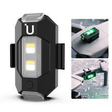 Ulanzi dr 02 mini drone luz estroboscópica 3 luzes cor 9 manipulação leve + bateria anti colisão para dji mavic mini pro mavic