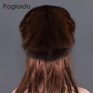 Image 2 - אופנה מינק פרווה כובע לנשים אמיתי טבעי פרווה כל למעלה אביזרי חם ברוסית חורף כובעי פרווה ליידי