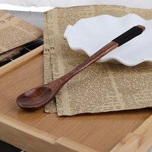 1 шт. 7,48 x 0.98in деревянные ложки с длинной ручкой, детская ложка, деревянная десертная ложка для риса, супа, чайная посуда для смешивания