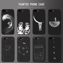Ultra Slim Painted Space Moon Matte Soft TPU Phone Case for Xiaomi Mi A2 Lite Mi 8 Mi A1 Mi A2 Mi A3 Mi Max 3 Mi CC9 Nokia 2 3 mi