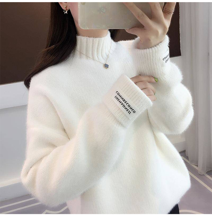 SURMIITRO Knitted Warm Sweater Female For Autumn winter 19 Ladies Long Sleeve Women Turtleneck Tricot Pullover Blue Jumper 6