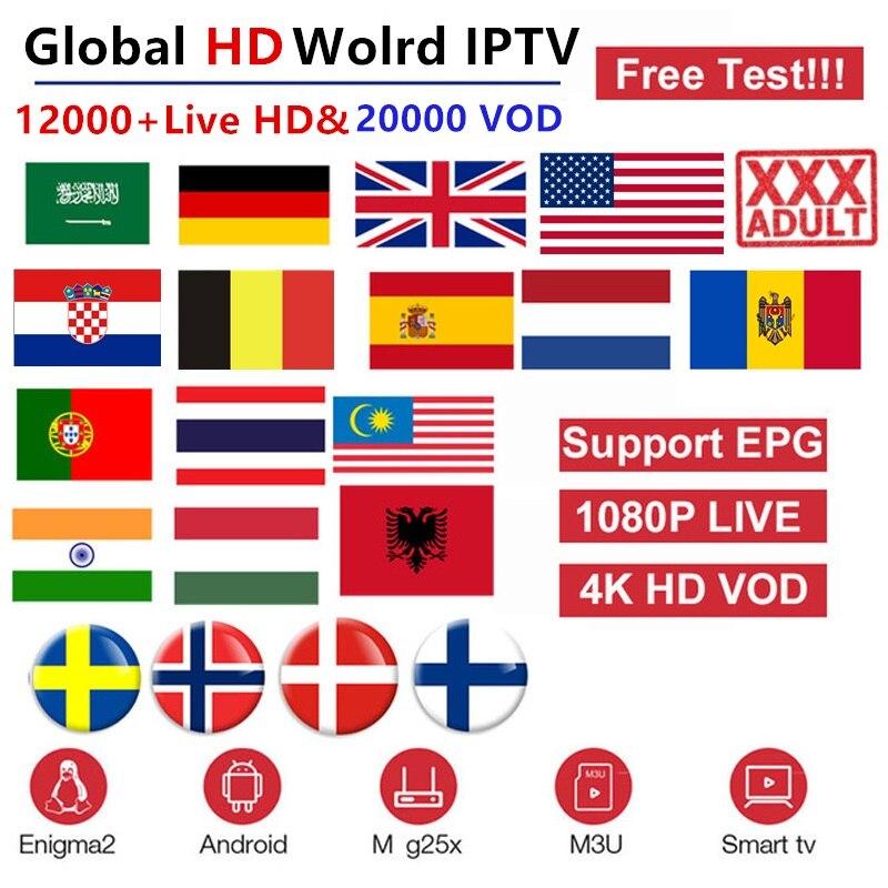 BEST PREMIUM IPTV 12000 UK ARB US IT CH /& VOD EPG Adult Smart TV MAG M3U