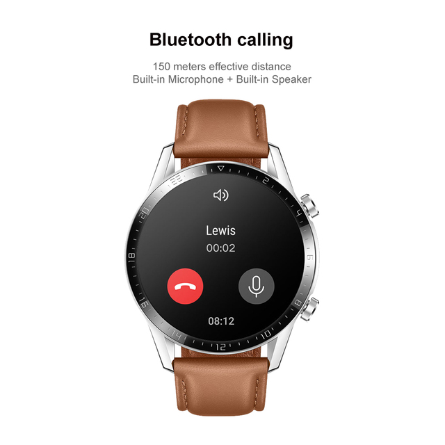 Huawei Watch GT 2 46mm Smart watch SpO2 Blood Oxygen Bluetooth Smartwatch 5.1 14 Days Battery Life Phone Call For Android iOS 2