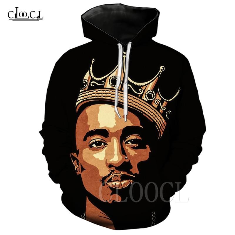 Tupac Hoodie Mens Hip Hop Rapper 2pac 3D Print Casual Sweatshirt Pullover Jumper