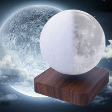Touched Switch Moon Lamp Children Bedside Night Light Bedroom night lamp Suspension Moon-shaped Table night Light(China)