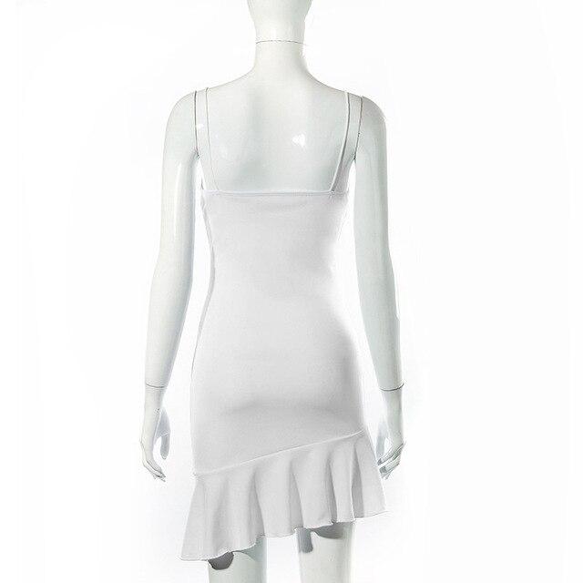 Cryptographic Spaghetti Straps Ruffles Mini Dress Club Party Elegant Sleeveless Slip Women's Summer Sundress Outfits Holiday 6