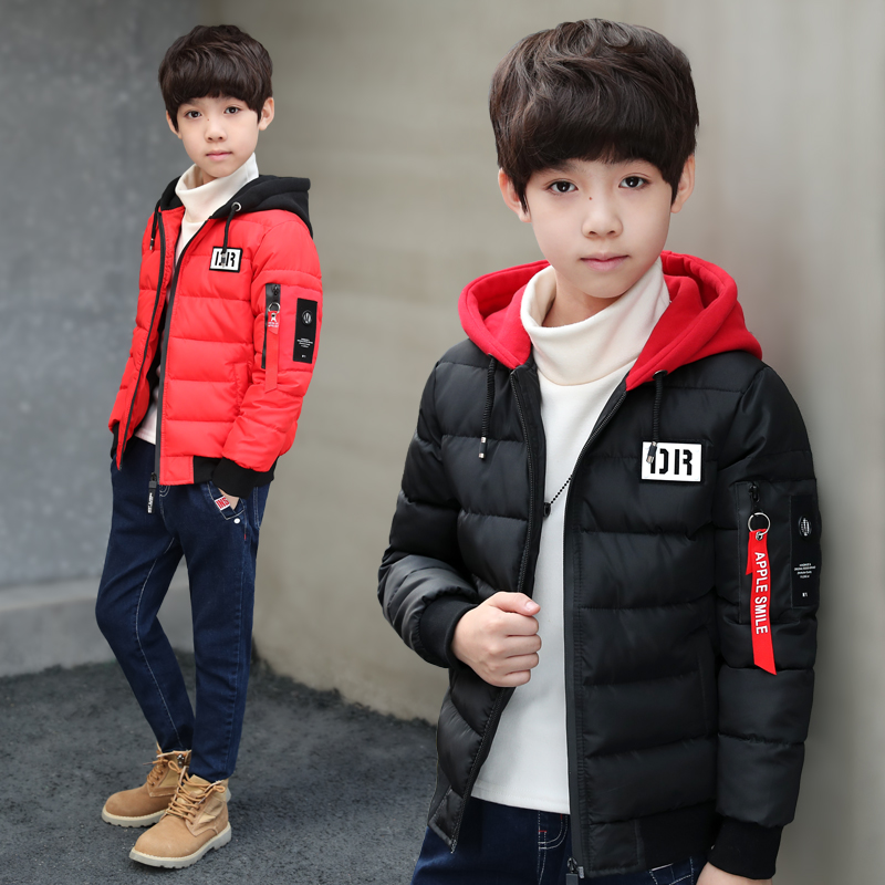 SMILEQ Fashion Kids Coat Boys Girls Hooded Outerwear Thick Coat Padded Winter Jacket Clothes