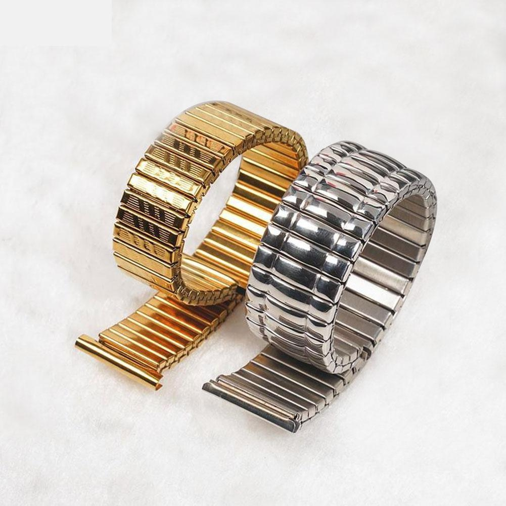 10 12 14 16 18 20 MM Stretch Expansion Stainless Steel Parts Watch Band Strap Silver Metal Watch Bracelets Watch Accessories