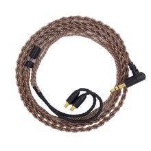 Fdbro substituição cabo de áudio para ie40 pro fones atualização fone de ouvido cabos banhado a prata fio microfone controle volume