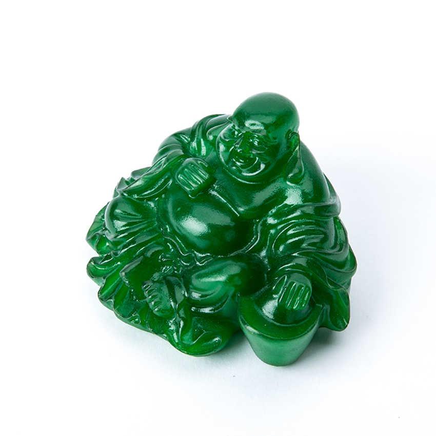 Jade mascota de té de Buda bandeja de té de agua accesorios para mascotas té hecho a mano para mascotas bandeja de té Kungfu gran regalo para el amante del té-verde