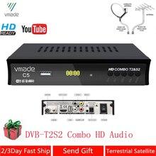 DVB T2 DVB S2 콤보 완전 HD 디지털 TV 튜너 리셉터 DVB T 지상파 위성 TV 수신기 지원 BISS 키 셋톱 박스
