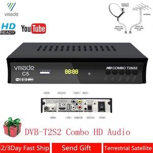 Image 1 - DVB T2 DVB S2 콤보 완전 HD 디지털 TV 튜너 리셉터 DVB T 지상파 위성 TV 수신기 지원 BISS 키 셋톱 박스