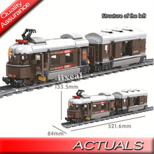 Apto para Lego Switzerland Tren clásico Building Block City trenes de invierno riel 6 figuras juguetes de ladrillo Hobbies Technic Constructor(China)