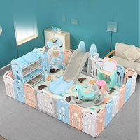Indoor Baby Playpens Folding Guard Protection Safety Infant Crawling Safety Guardrail Step Play Fence Kids Activity Gear