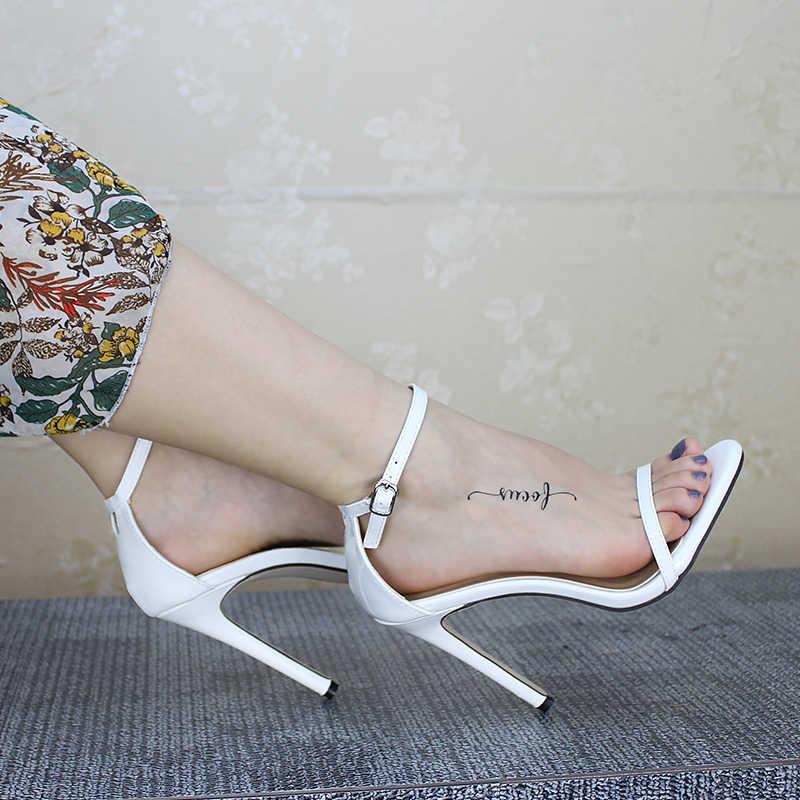 Mùa Hè Giày Cao Gót Gợi Cảm Nữ Bơm Khóa Nữ Giày Đế Đảng Giày Nữ Giày Nữ Giày Nữ Giày Sandal Plus Kích Thước 43