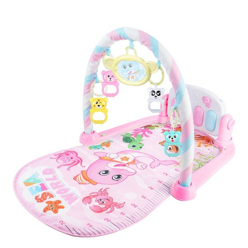 2020 Infant Cartoon Cradle Toys Music Game Blanket Baby Gilrs Boys Fitness Frame Multifunction Foot Piano Kids Crawling Mat
